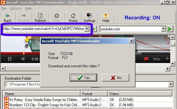 Youtube MP3 Downloader tutorial 1